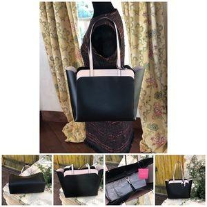 NWT kate spade Double pocket leather tote handbag